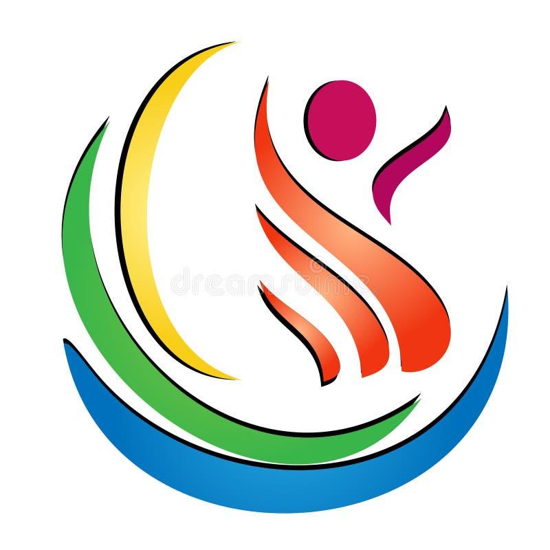 Figure health spa logo vector stock illustration