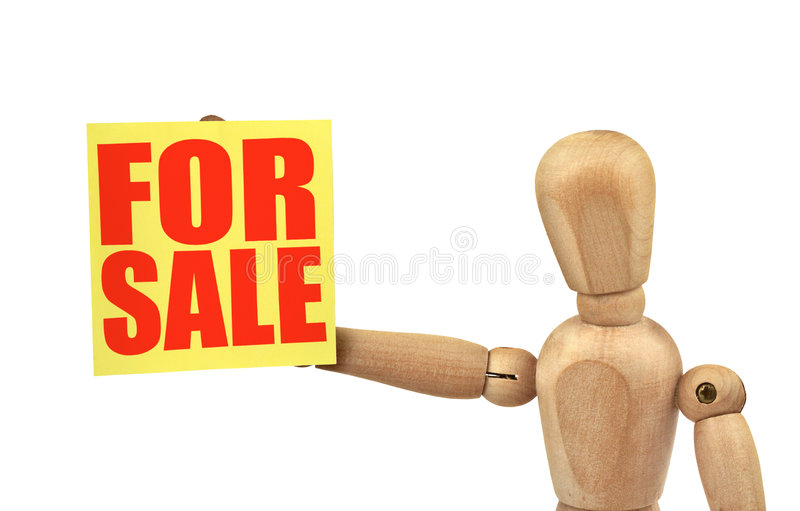 Download Figure Holding A Sale Announcement Stock Image - Image: 4030545
