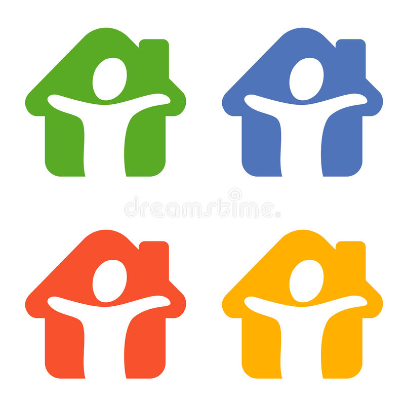 Download A figure in a house stock vector. Image of logo, orange - 11968666