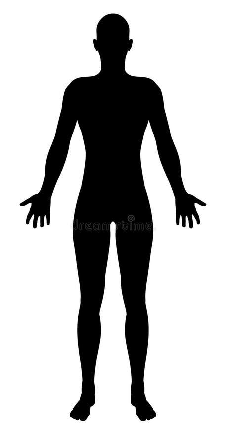 Figure humaine unisexe stylisée silhouette illustration de vecteur