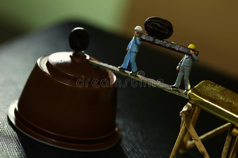 Figure model scene. stock photos