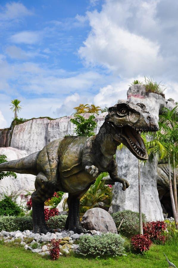 Figure moulée de Tyrannosaurus image libre de droits