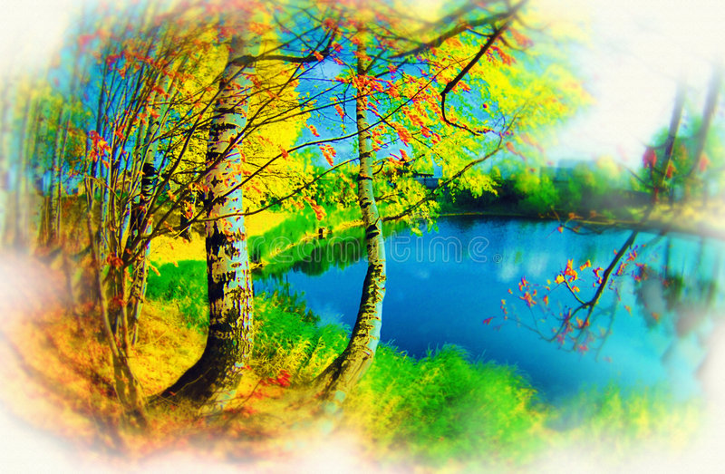 Figure multicolore abstraite. images stock
