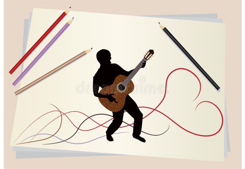 Download Figure Musician Stock Image - Image: 13903141
