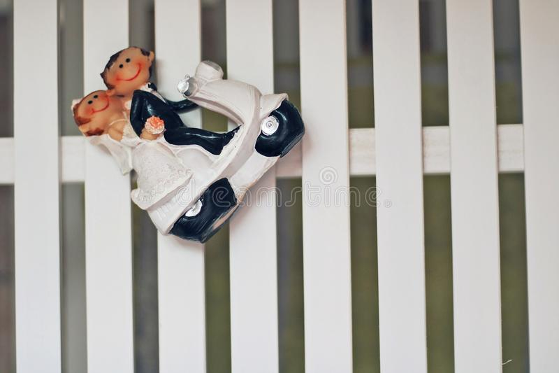 Figure of newlywed couple. royalty free stock image