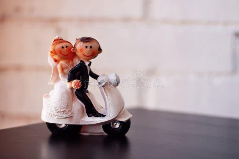 Figure of newlywed couple. stock photography