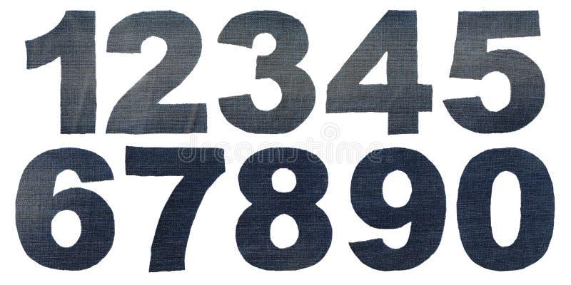 Figure nombres de denim photos stock