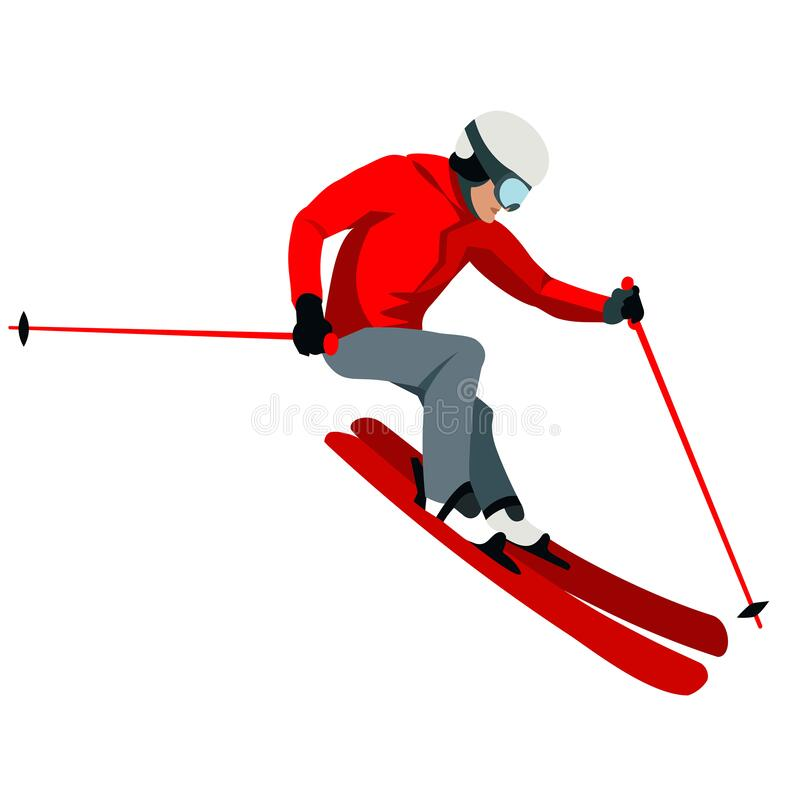 Free Figure Of A Slalom Skier Skating Down A Mountain Slope Royalty Free Stock Photography - 201804127