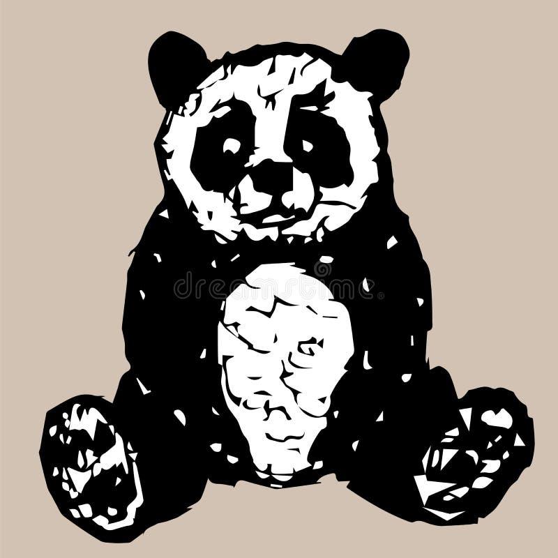 Figure panda se reposant illustration de vecteur