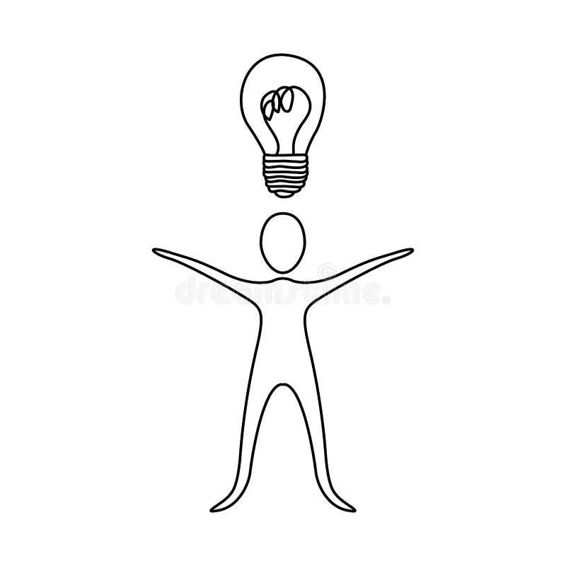 figure a pessoa que tem um bom ícone da ideia ilustração do vetor
