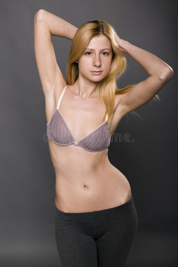 Figure photo of natural woman stock photography