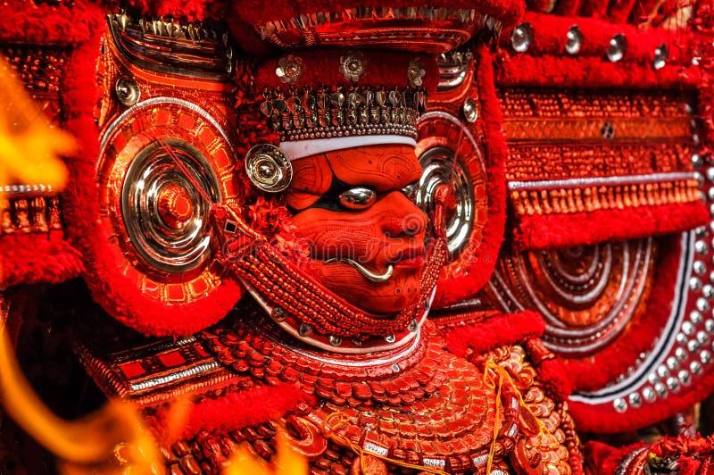 Figure pieghe nel Kerala fotografia stock