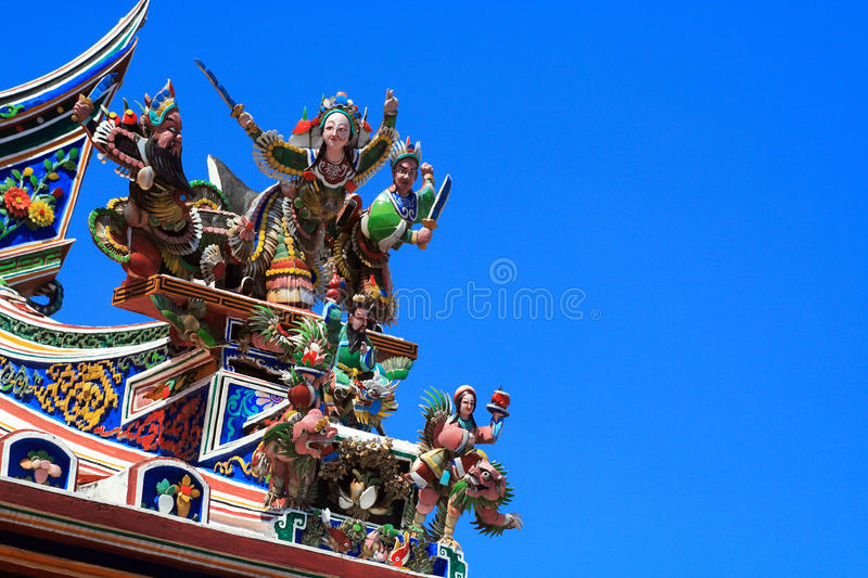 Download Figure In Roof Of Buddhism Temple Stock Image - Image: 16570583