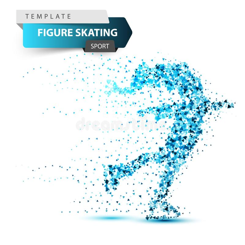 Figure scating - winter triangle illustration. vector illustration