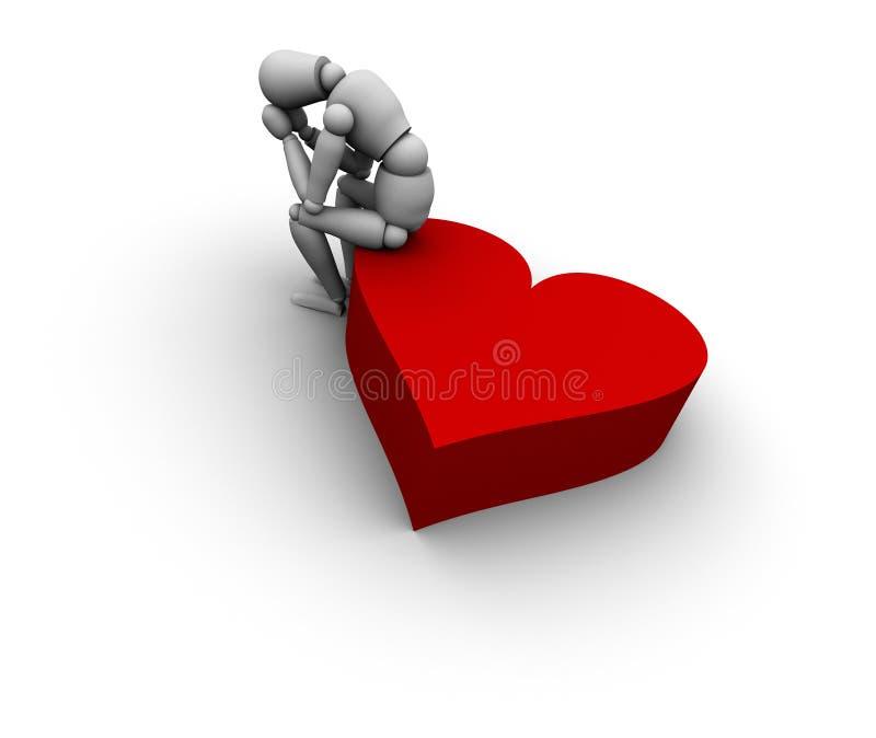 Download Figure sitting on heart stock illustration. Image of life - 21869176