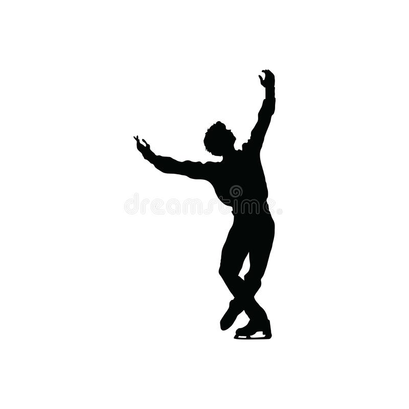 Free Figure Skate Man Silhouette Royalty Free Stock Photography - 130794497
