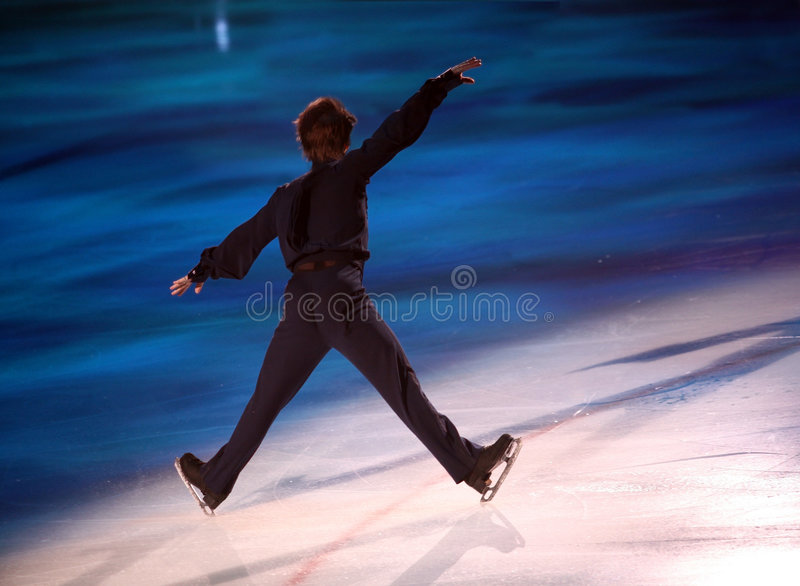 Figure skater royalty free stock photo