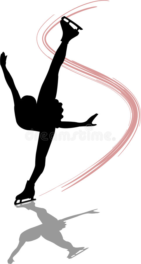 Figure Skater Spiral/ai royalty free illustration