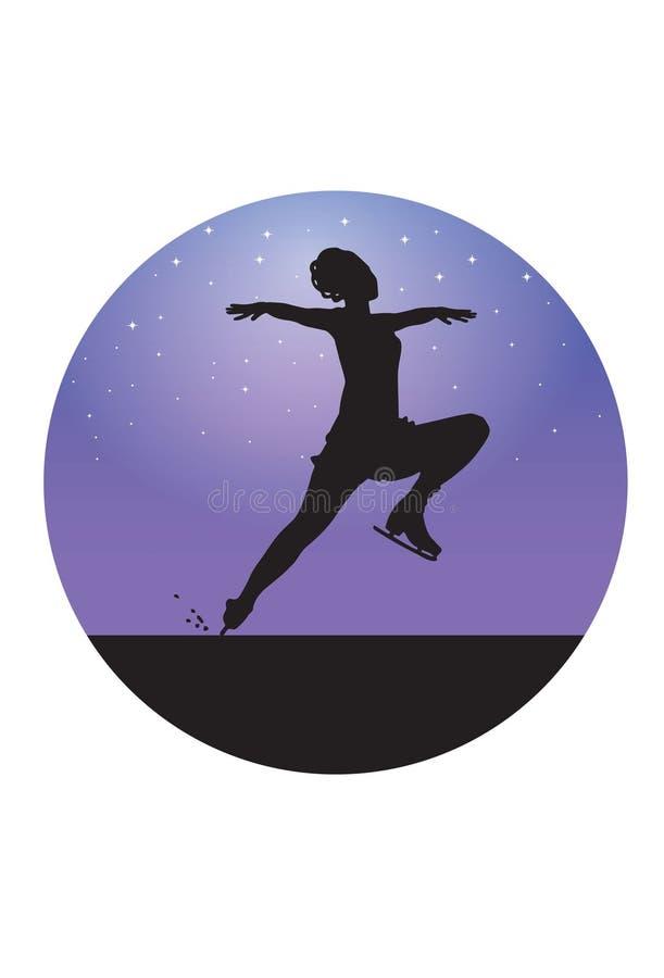 Figure Skater stock illustration