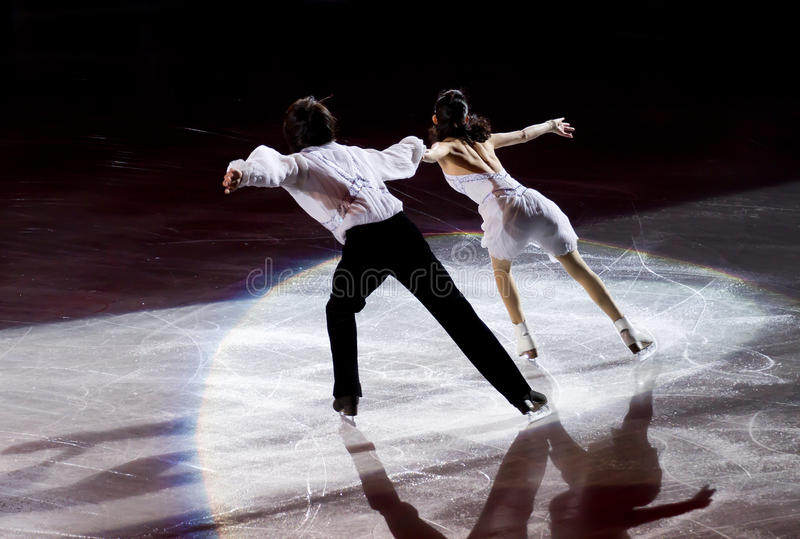 Figure skaters royalty free stock photos