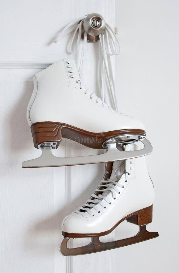 Figure Skates Hanging On A Door Knob Stock Image - Image of figure ...