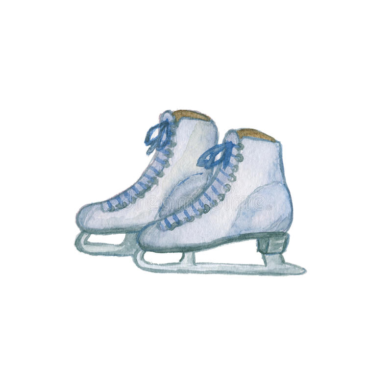 Figure skates isolated royalty free stock images