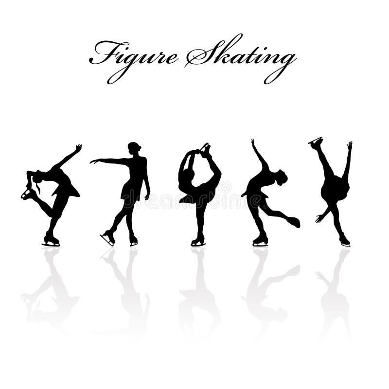 Figure skating royalty free illustration