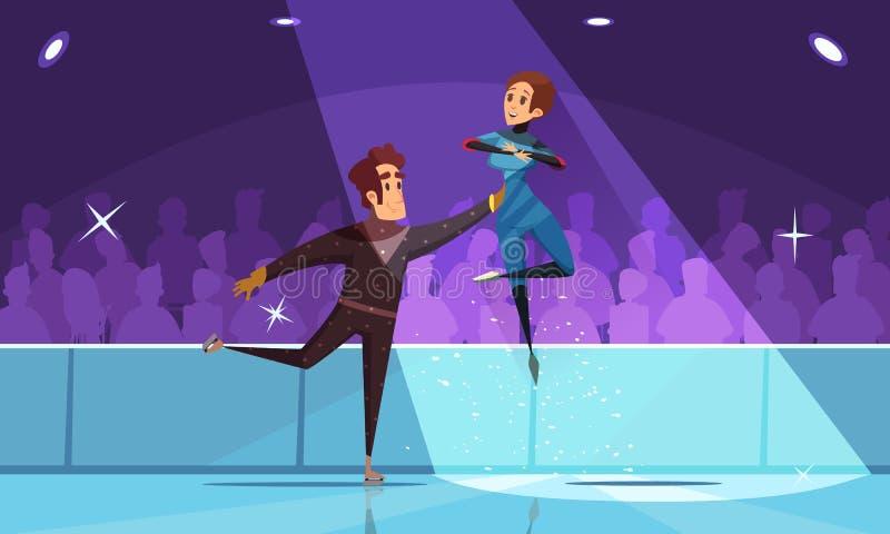 Figure Skating Composition stock illustration