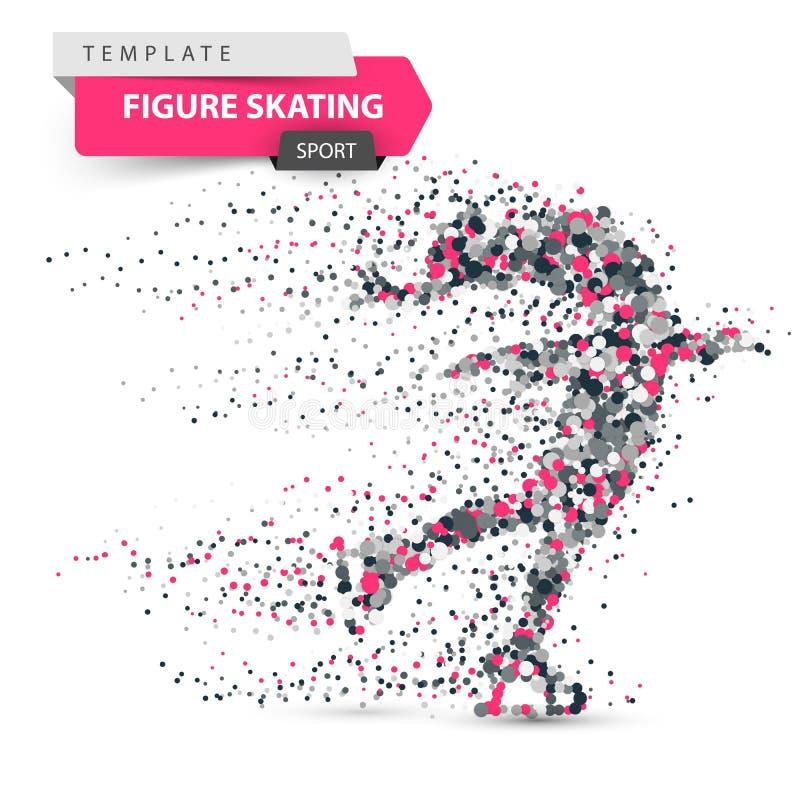 Figure skating - dot illustration. Sport template. vector illustration