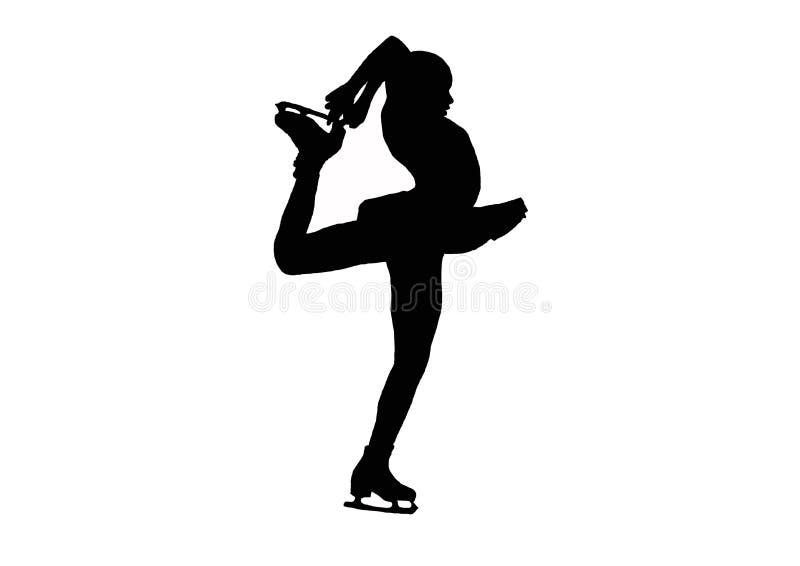 Figure skating pirouette stock illustration
