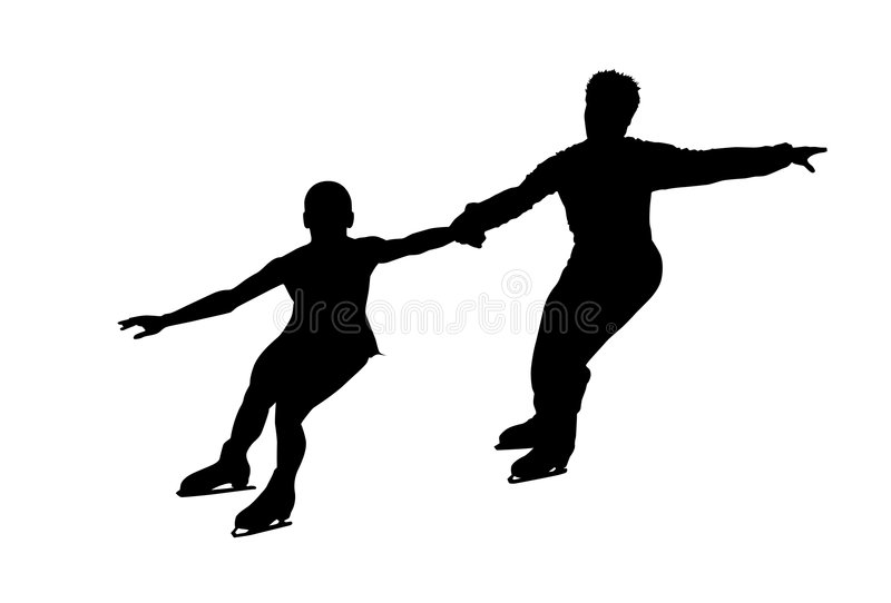 Figure skating silhouette stock photography