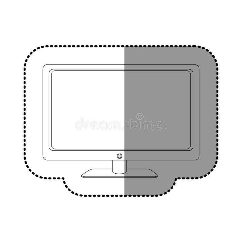 Figure smart tv modern technology. Illustration design stock illustration