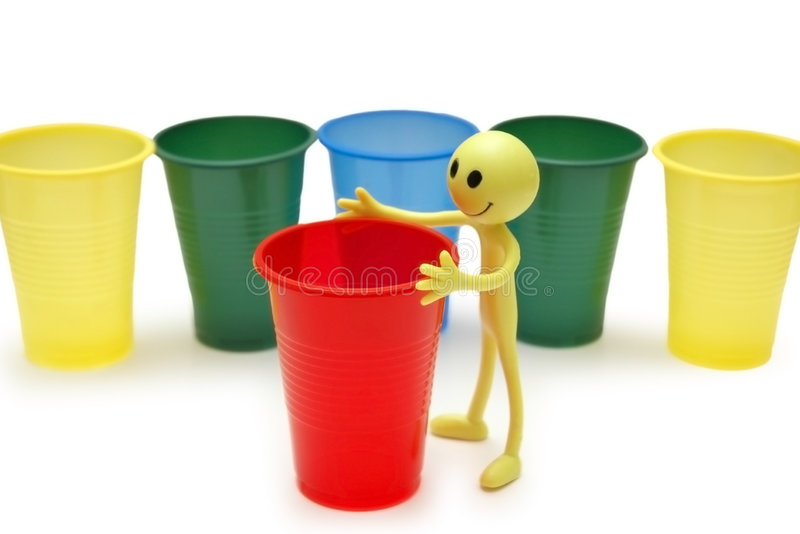 Download Figure of Smiley and cups stock image. Image of cartoon - 1414633