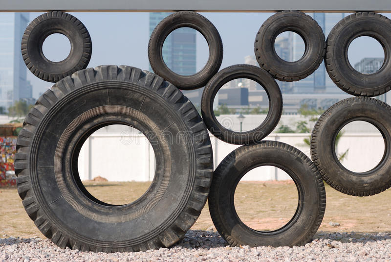 Figure of some tyres royalty free stock image