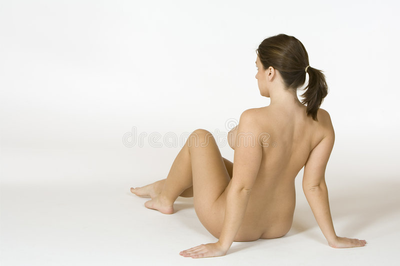 Download Beautiful Caucasian Woman Posing Nude On White Background Stock Photo - Image: 1413524