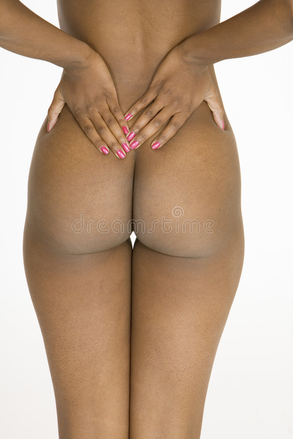 Download Beautiful African American Woman Posing Nude On White Background Stock Photo - Image: 1417564
