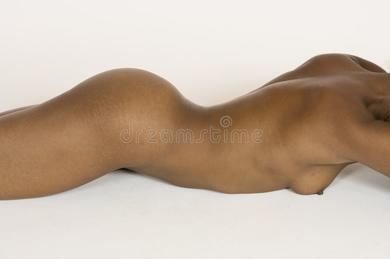 Download Beautiful African American Woman Posing Nude On White Background Stock Image - Image: 1417573