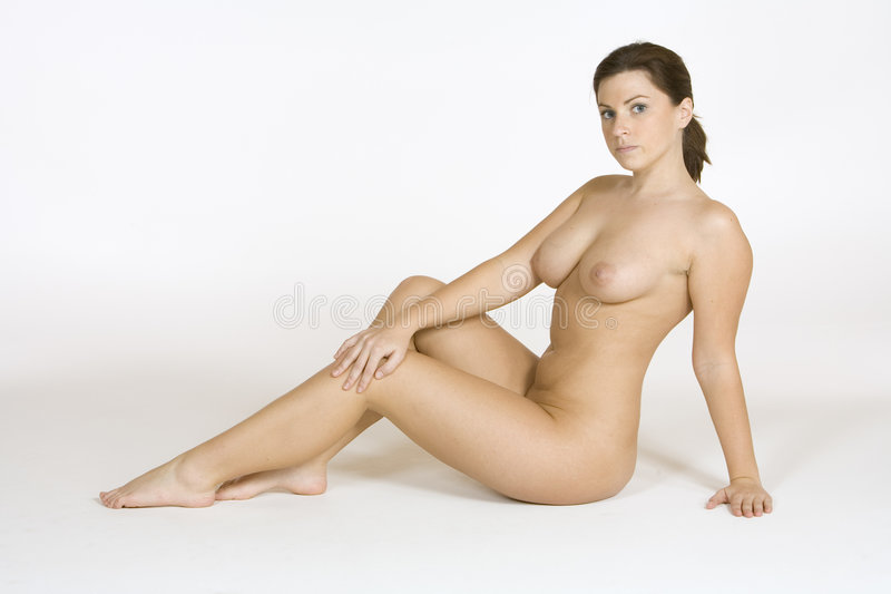 Download Beautiful Caucasian Woman Posing Nude On White Background Royalty Free Stock Photo - Image: 1417985