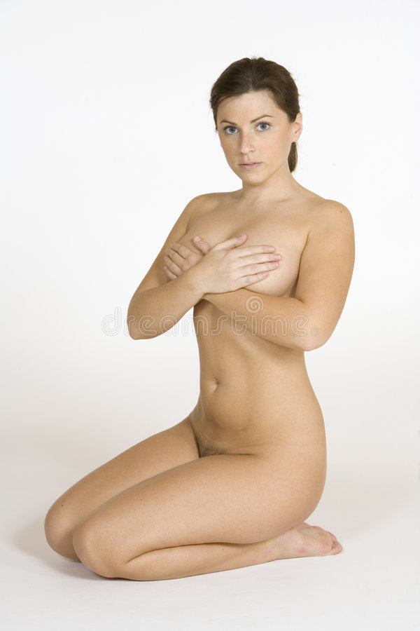 Download Beautiful Caucasian Woman Posing Nude On White Background Royalty Free Stock Photos - Image: 1418228