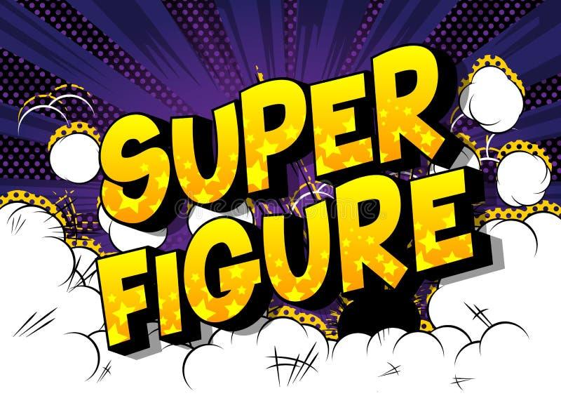 Figure superbe - mots de style de bande dessinée illustration stock