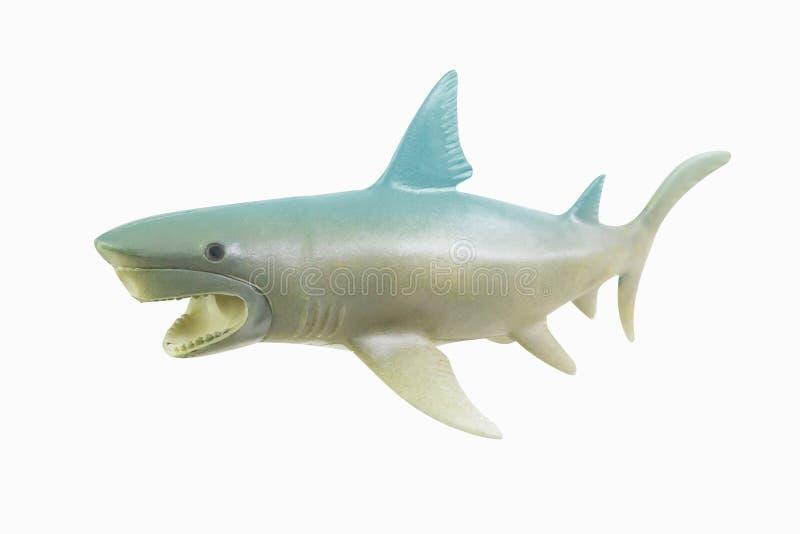 Figure toy white shark isolated closeup image royalty free stock photo