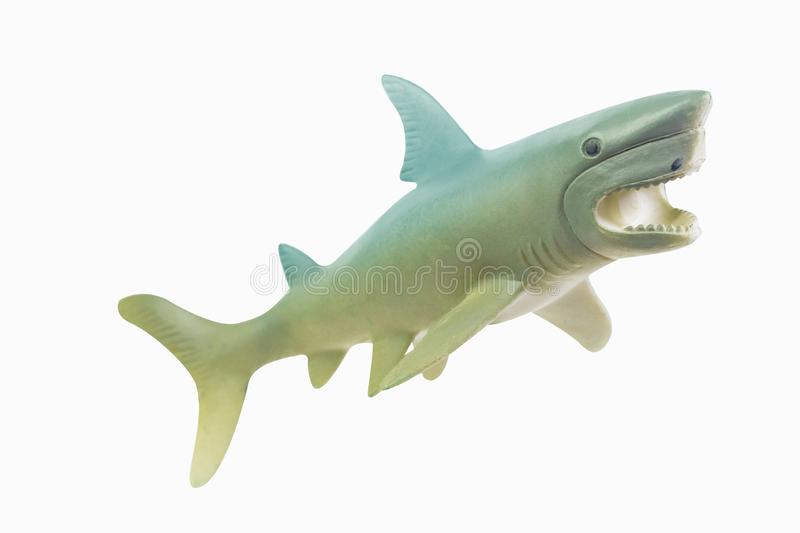 Figure toy white shark isolated closeup image royalty free stock photos