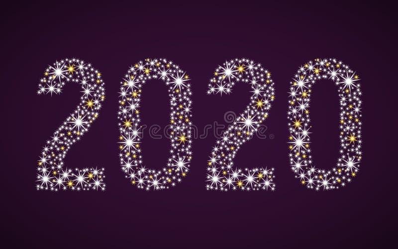 Figure tremule 2020 illustrazione di stock