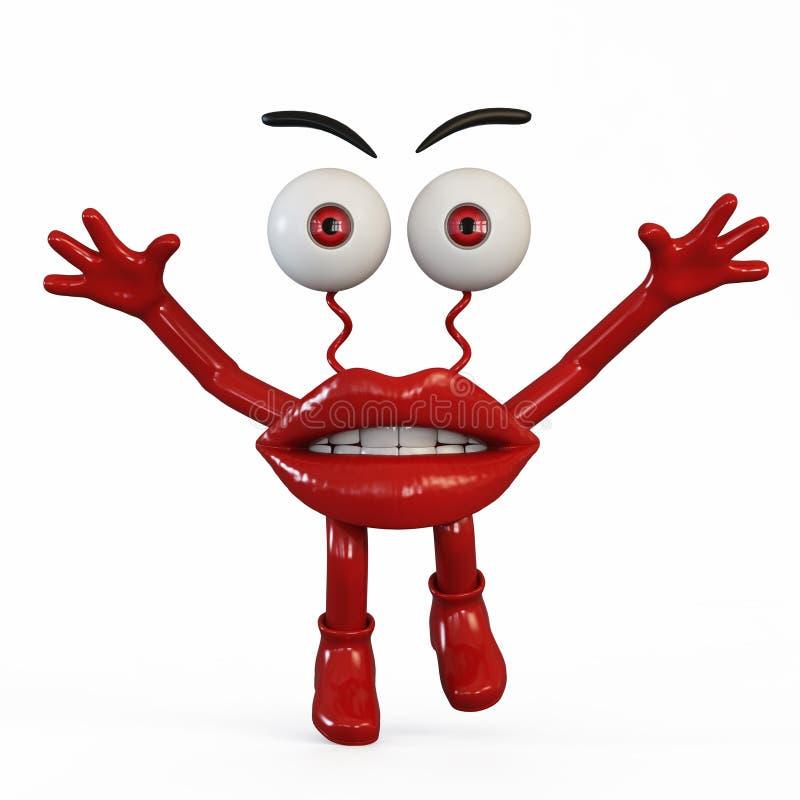 Figurek wargi z czerwonymi oczami zdjęcie stock