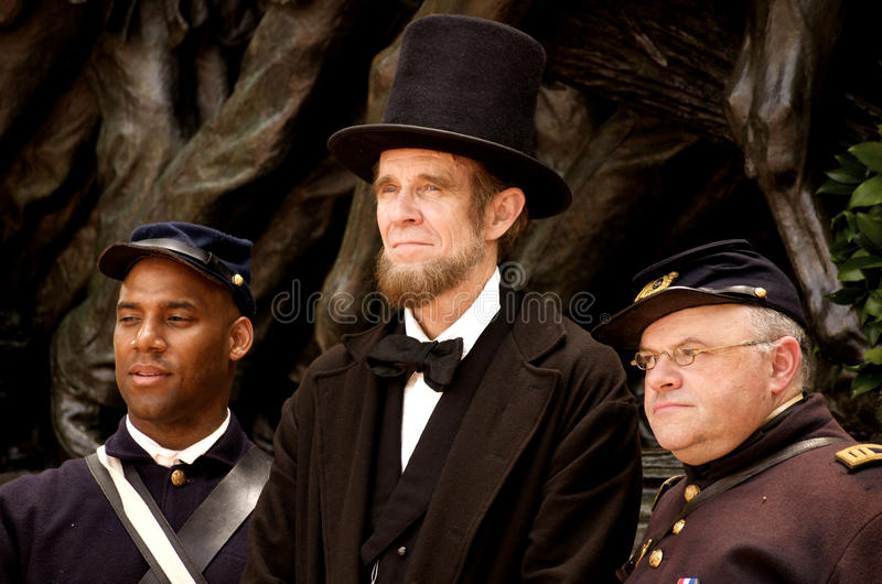 Figures of the Civil War stock images