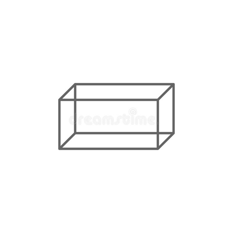 Figures géométriques, icône cuboïde d'ensemble ?l?ments d'ic?ne g?om?trique d'illustration de figures Des signes et les symboles  illustration de vecteur