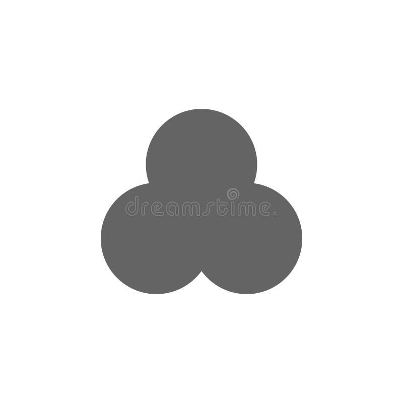 Figures géométriques, icône de minette ?l?ments d'ic?ne g?om?trique d'illustration de figures Des signes et les symboles peuvent  illustration libre de droits