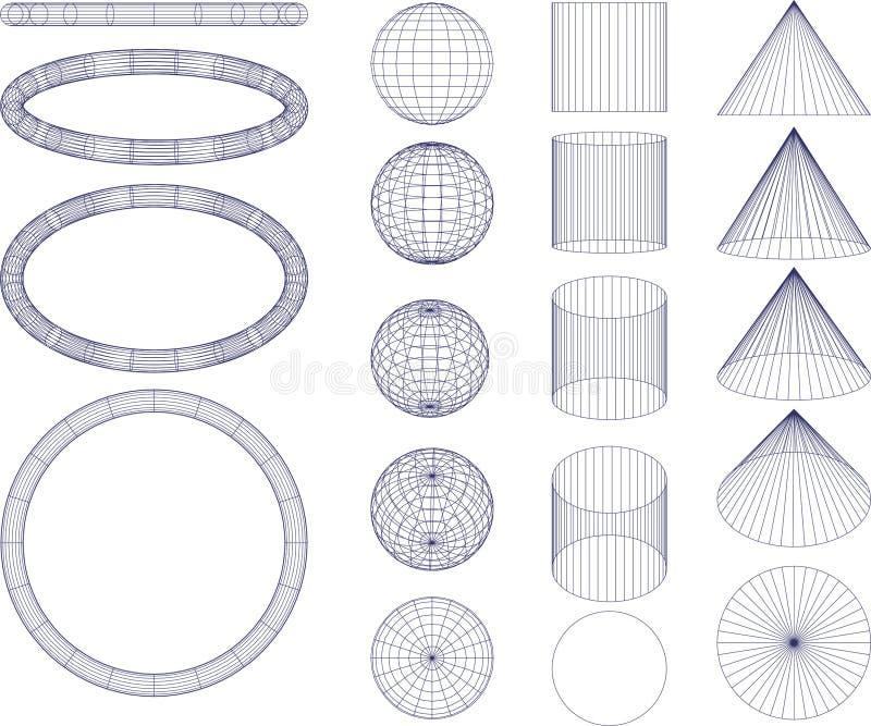 figures geometriskt royaltyfria bilder