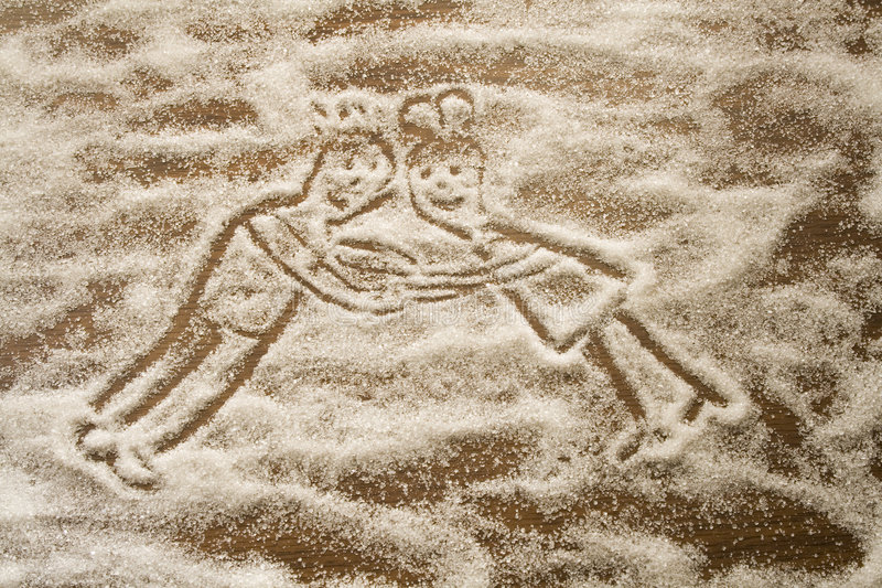Download Figures Of Lovers Made From Sugar Stock Illustration - Image: 7650732