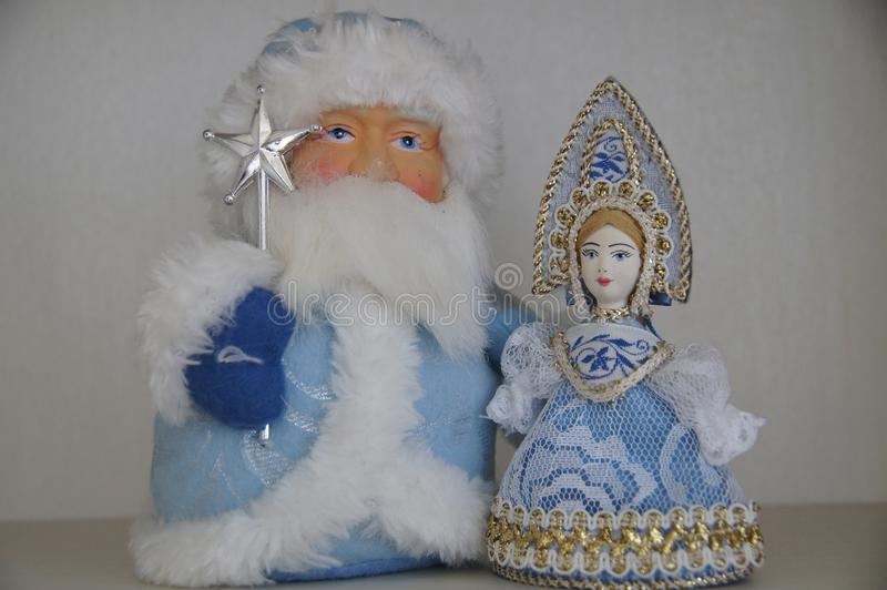 Ded Moroz and Snegurochka royalty free stock images